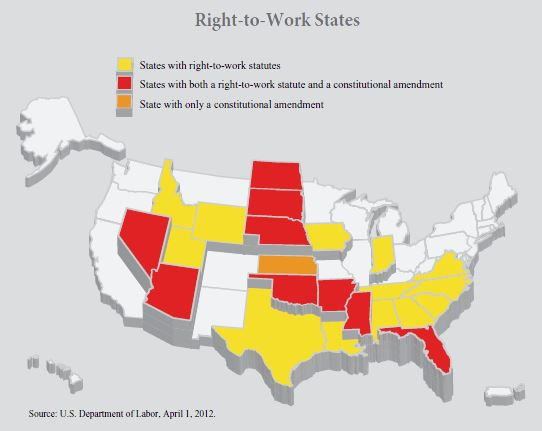 map - right to work